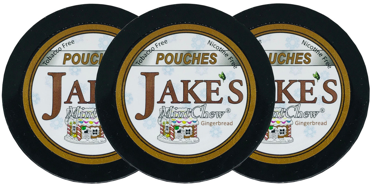 Jake's Mint Herbal Chew Pouches Gingerbread 3 Cans