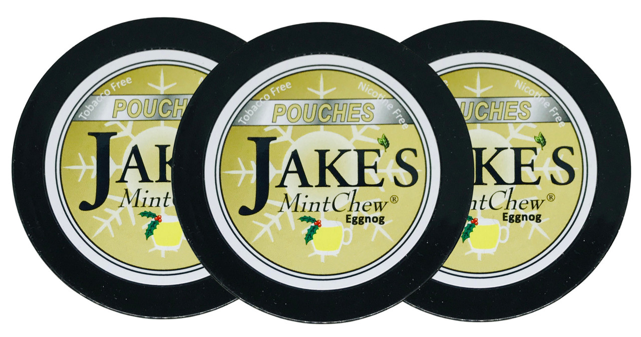 Jake's Mint Herbal Chew Pouches Eggnog 3 Cans