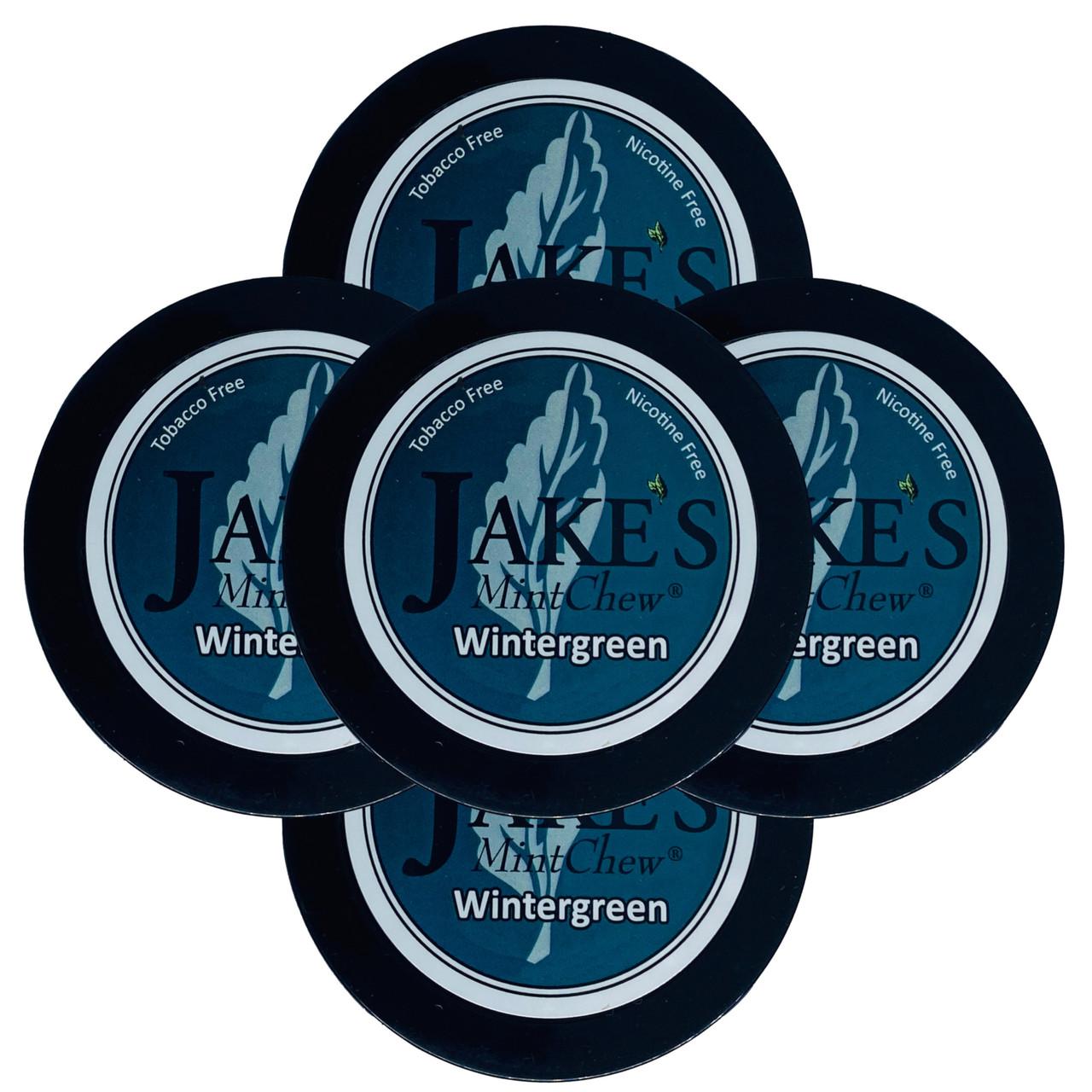 Jake's Mint Herbal Chew Wintergreen 5 Cans