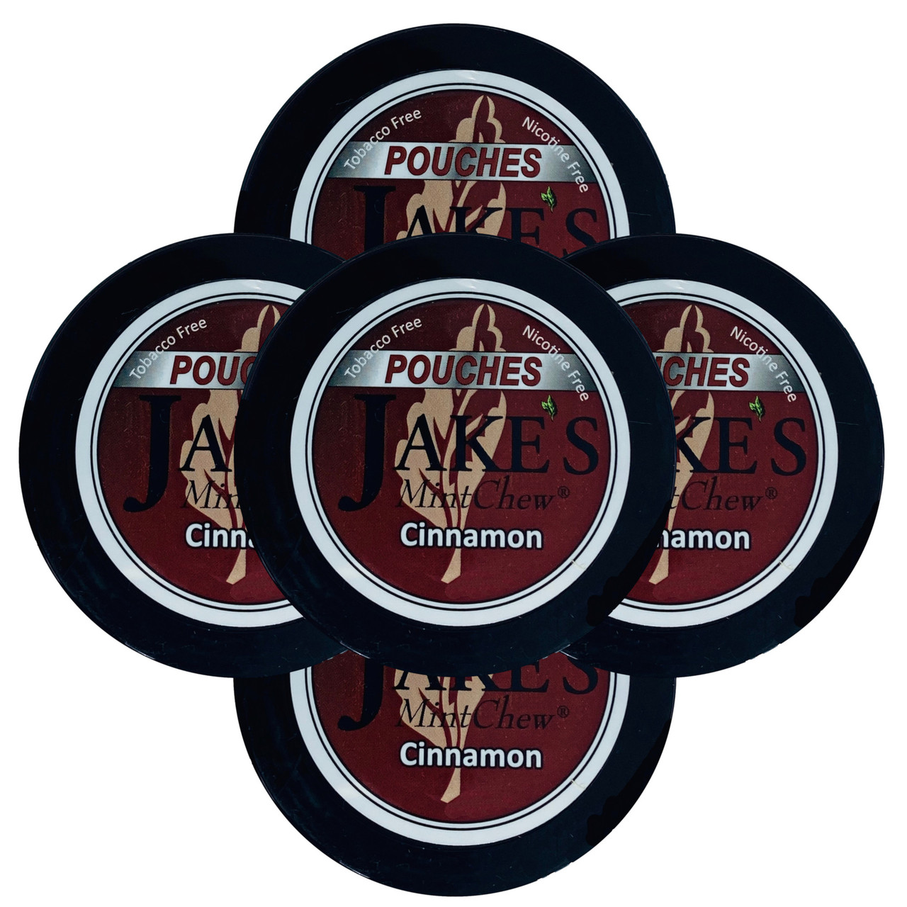 Jake's Mint Herbal Chew Pouches Cinnamon 5 Cans