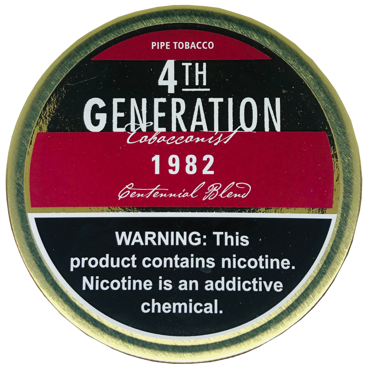 4th Generation 1982 English Blend Pipe Tobacco   1.4 OZ TIN