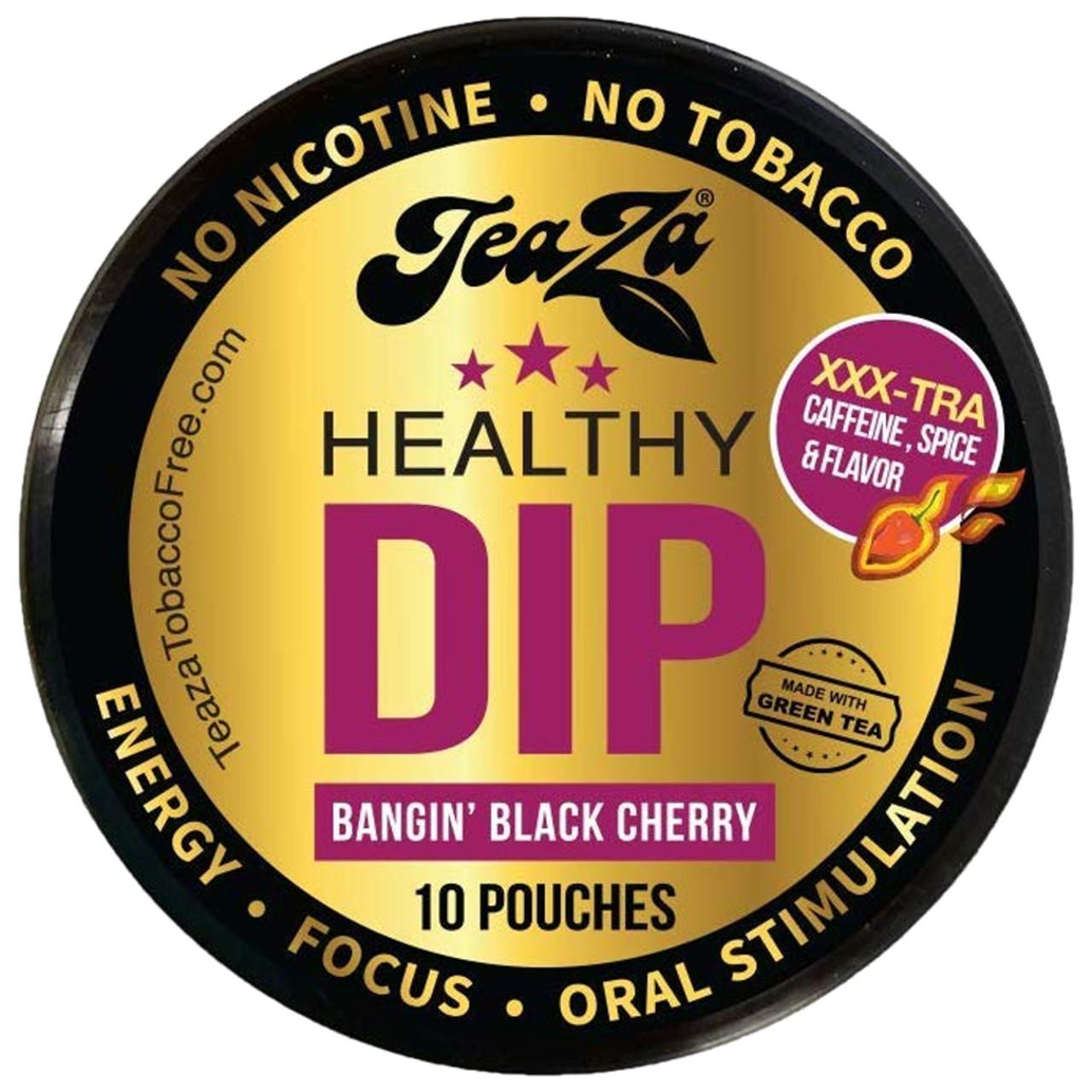 Teaza Energy Dip Pouches Bangin Black Cherry 1 Can