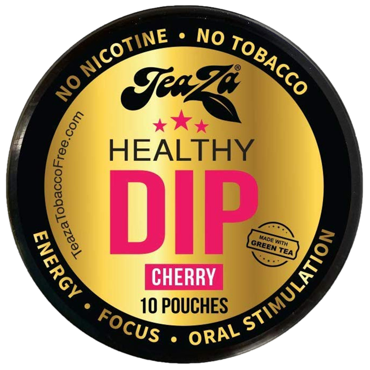 Teaza Energy Dip Pouches Cherry 1 Can
