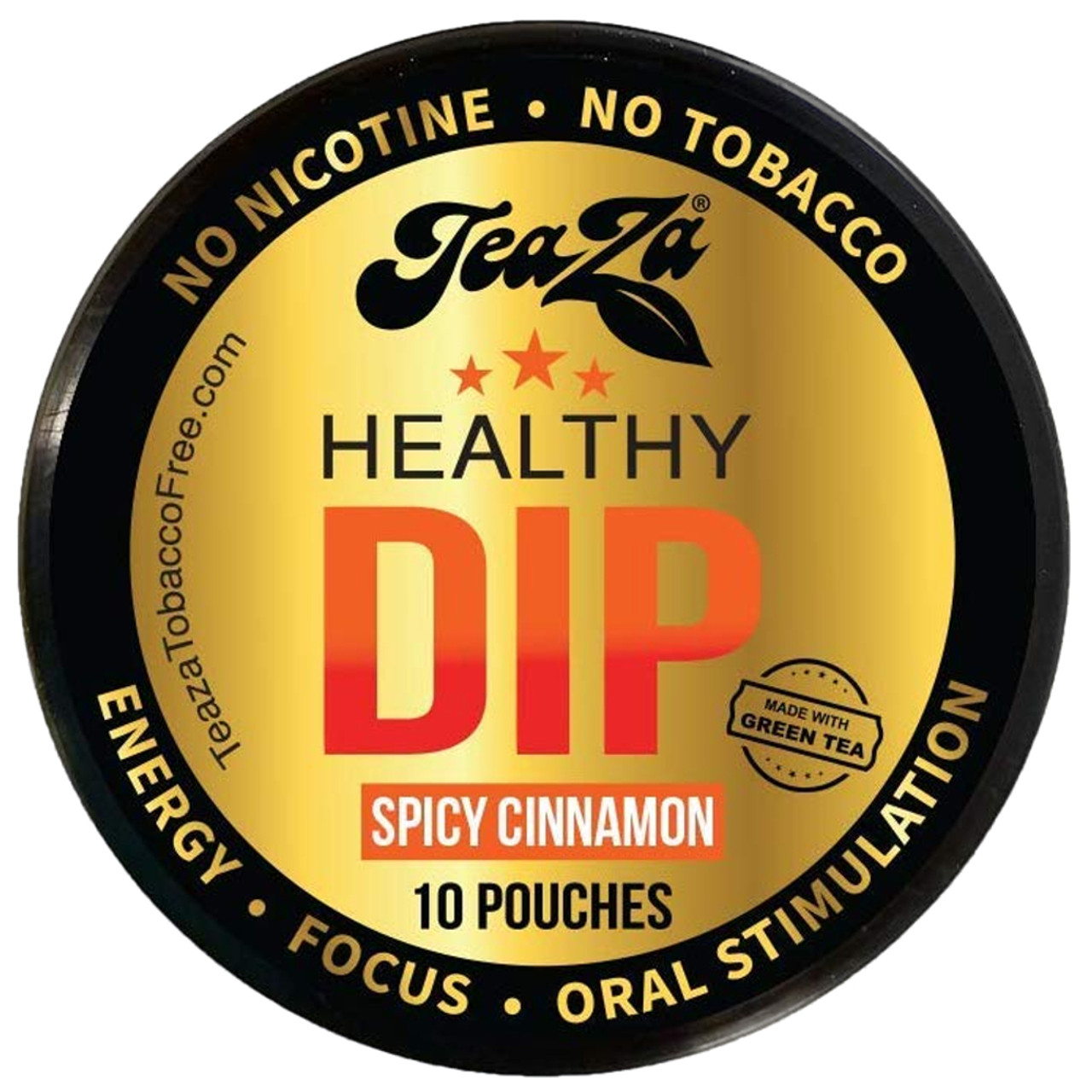 Teaza Energy Dip Pouches Spicy Cinnamon 1 Can