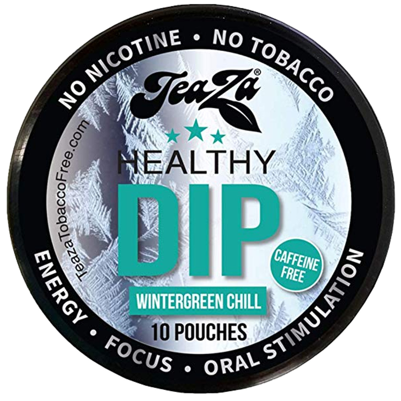 Teaza Energy Dip Pouches Wintergreen Chill 1 Can