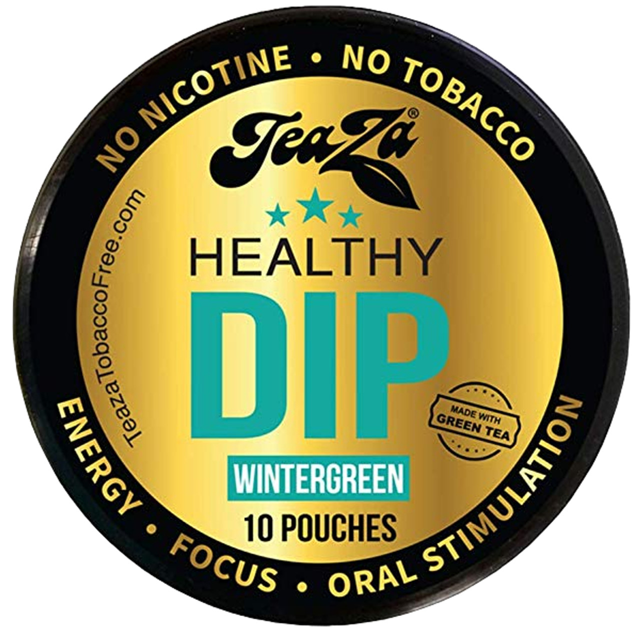 Teaza Energy Dip Pouches Wintergreen 1 Can