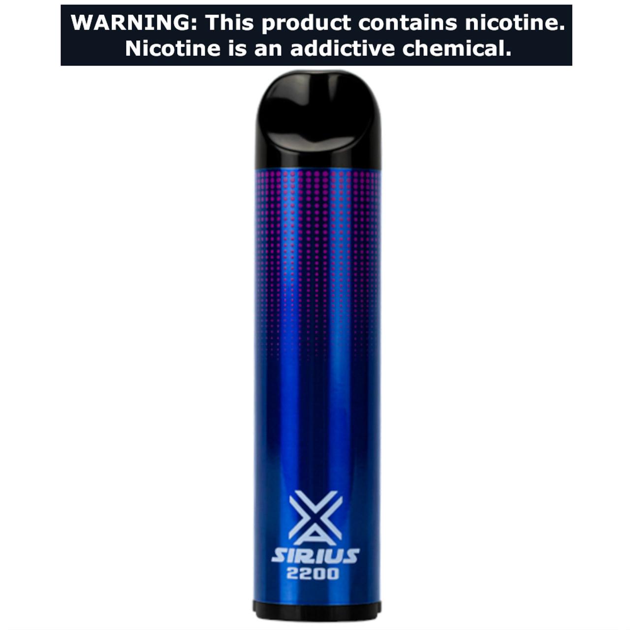 VaporLax Vape Sirius 2200 Flavored Disposables Blue Razz