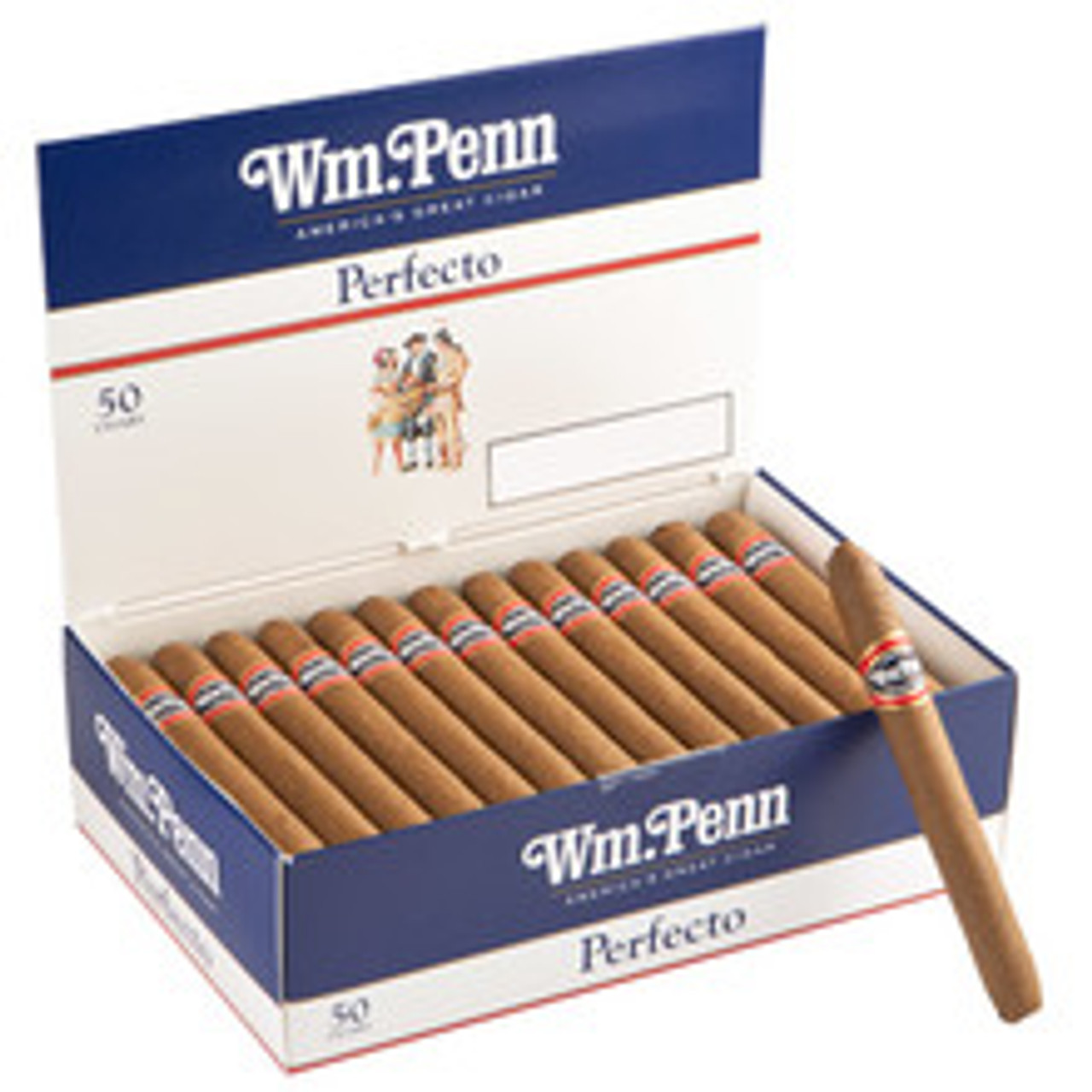William Penn Perfecto Cigars (Box of 50) - Natural