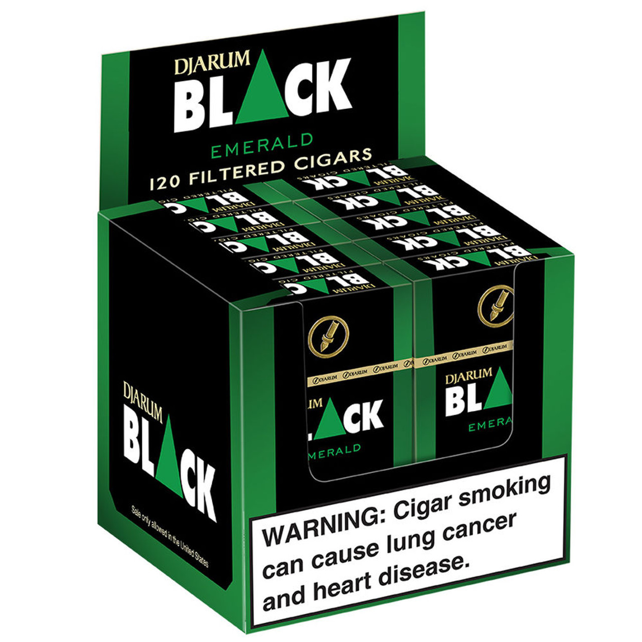Djarum Filtered Emerald Menthol Cigars (10 Packs of 12) - Maduro