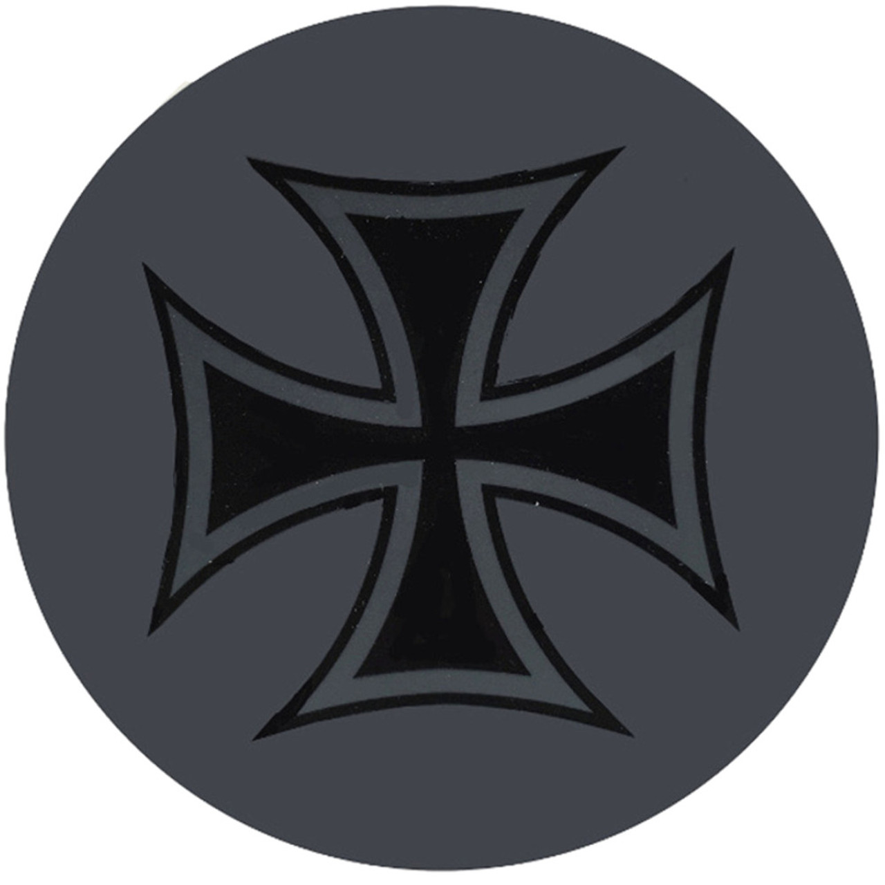 DC Skins Snuff Covers - Waterproof Protective Skins for Dip and Chew Cans - Iron Cross