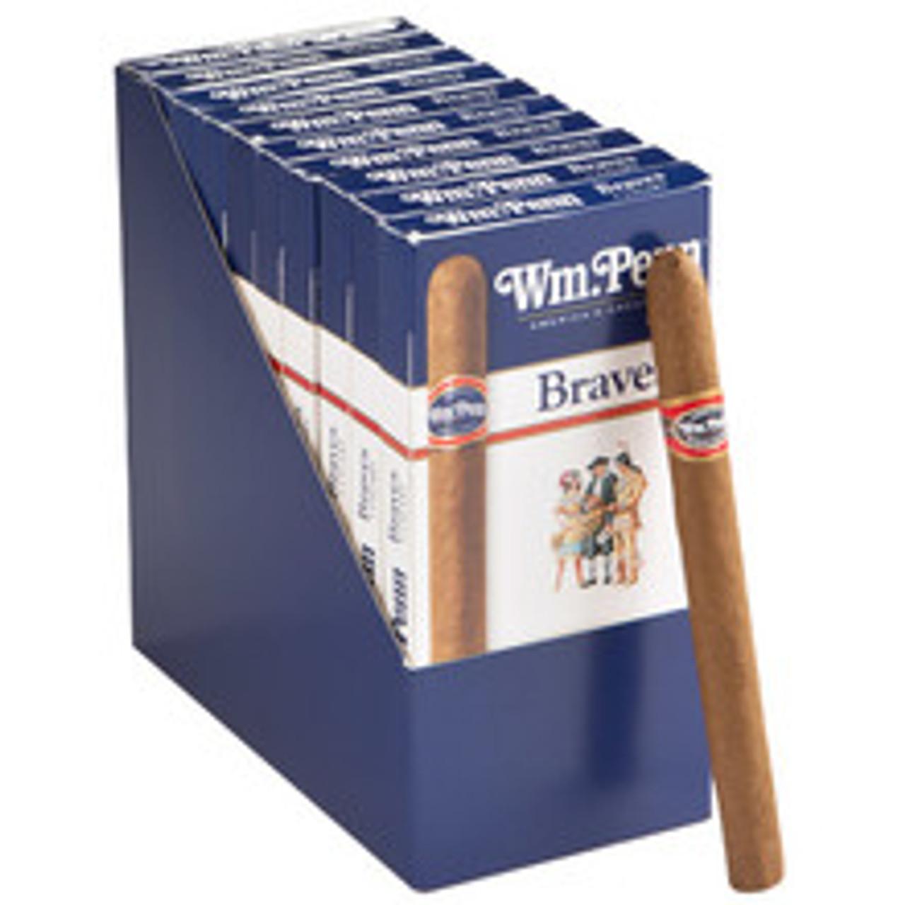 William Penn Brave Cigars (10 Packs Of 5) - Natural