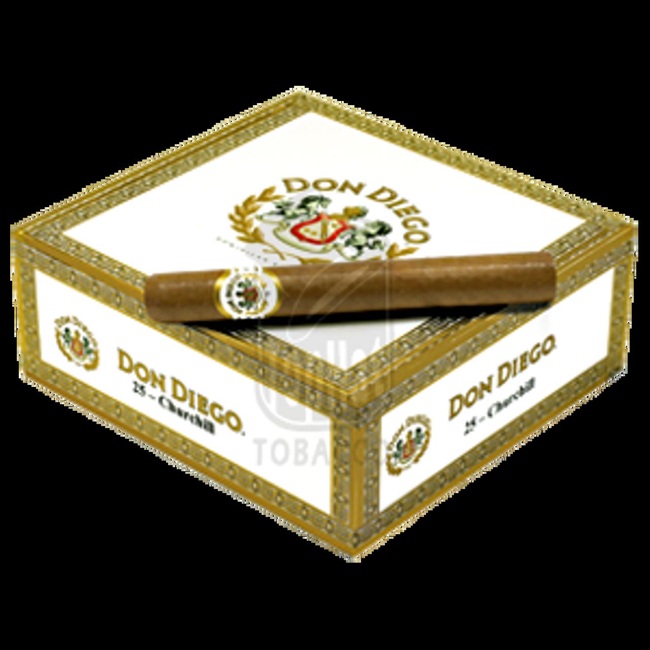 Don Diego Churchill Cigars - 7 x 54 (Box of 25)