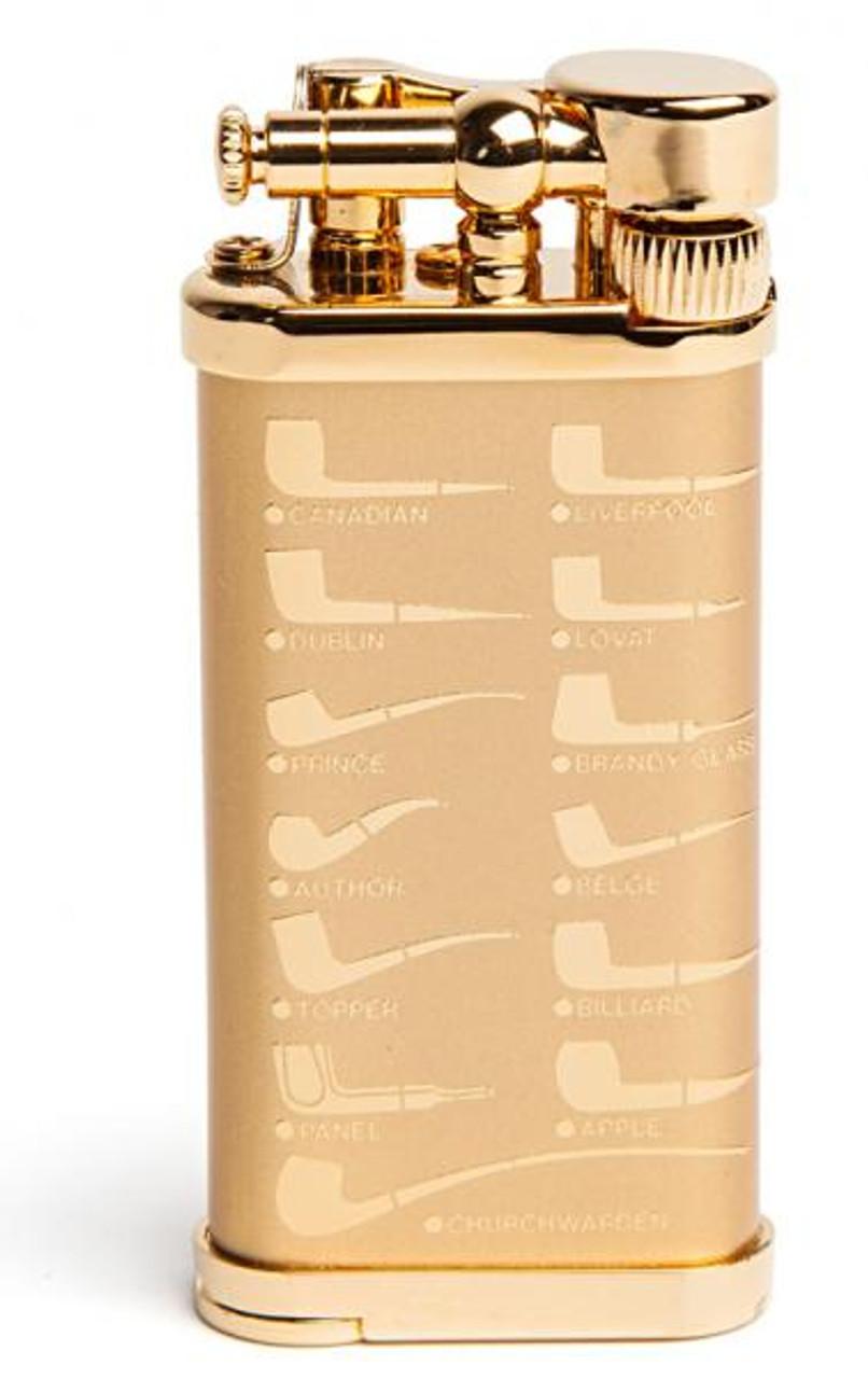 IM Corona Old Boy Gold Pipe Shape Lighter