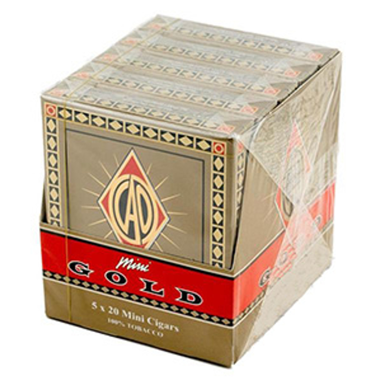CAO Gold Mini Cigars - 3 1/2 x 20 (5 Packs of 20)