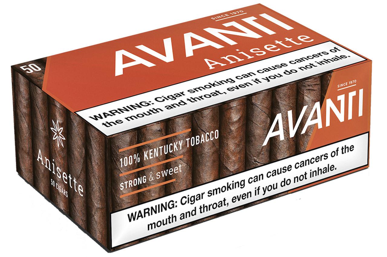Avanti Singles Cigars (Box of 50) - Natural