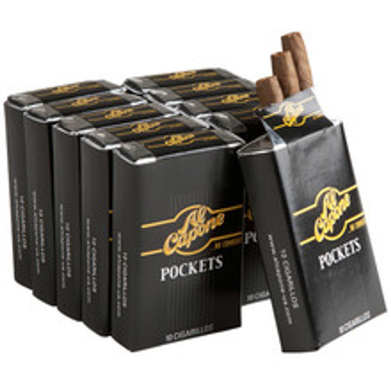 Al Capone Pockets Cigars (10 Packs Of 10) - Natural