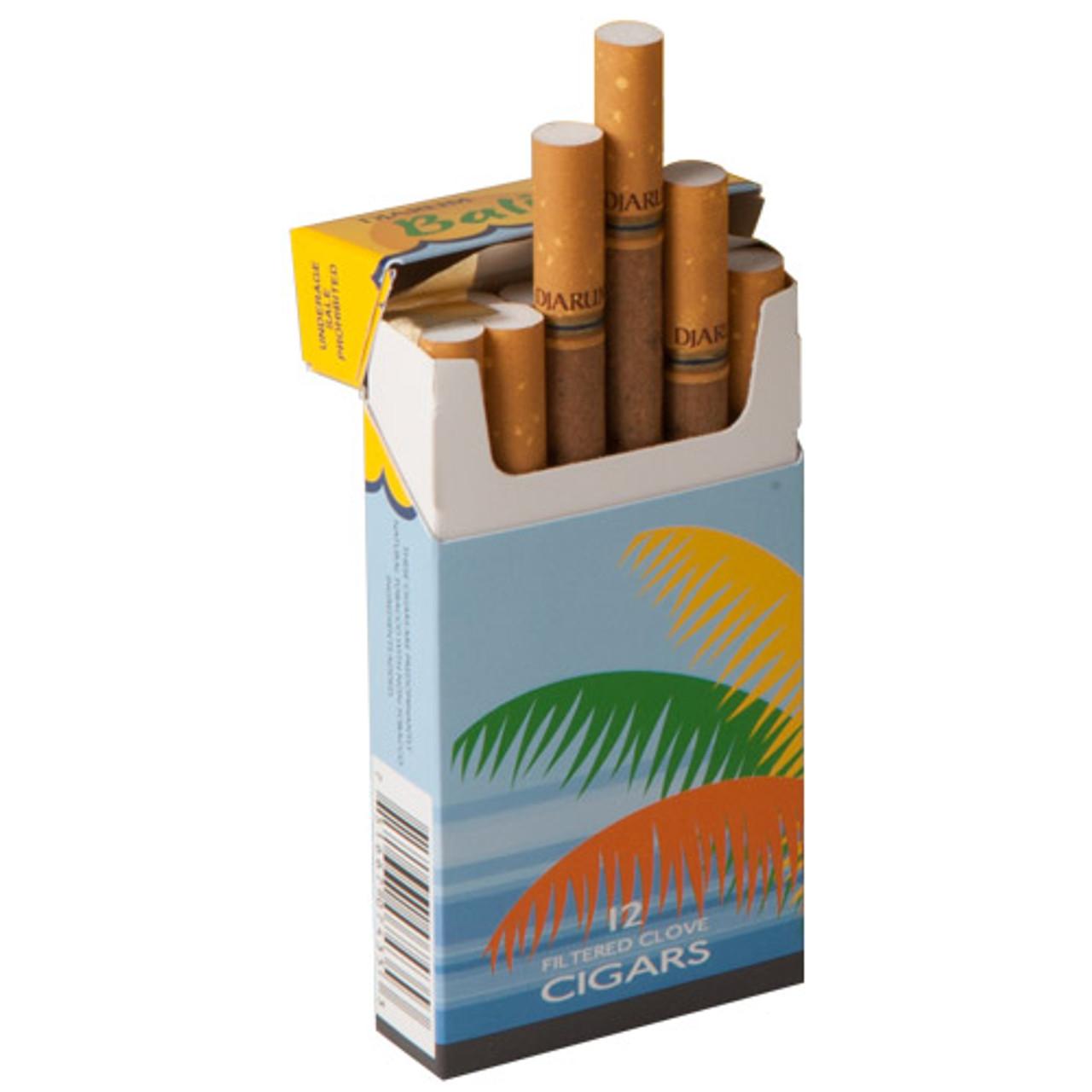 Djarum Filtered - Bali Hai Cigars (10 Packs of 12) - Natural