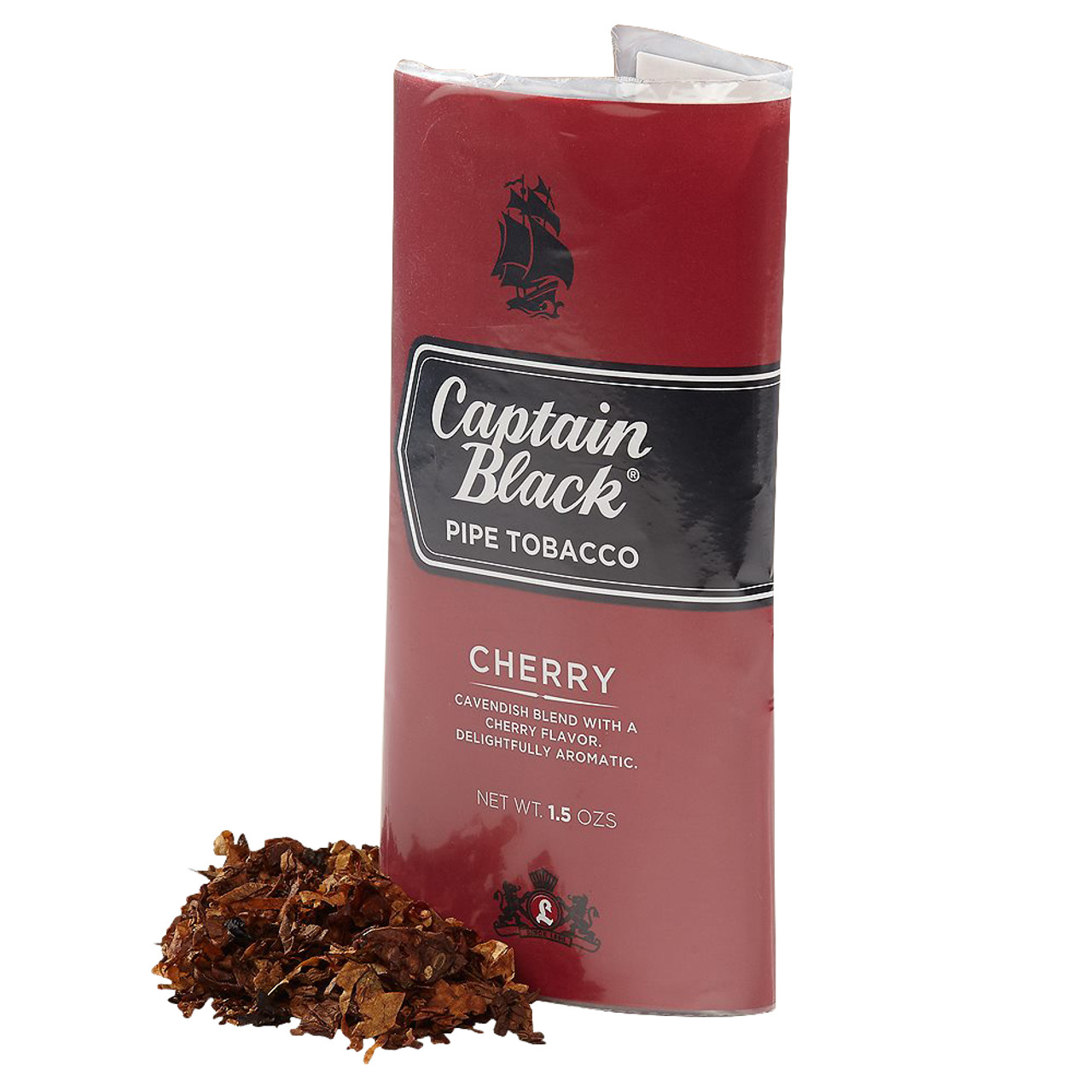 Captain Black Cherry Pipe Tobacco   1.5 OZ POUCHES - 6 COUNT