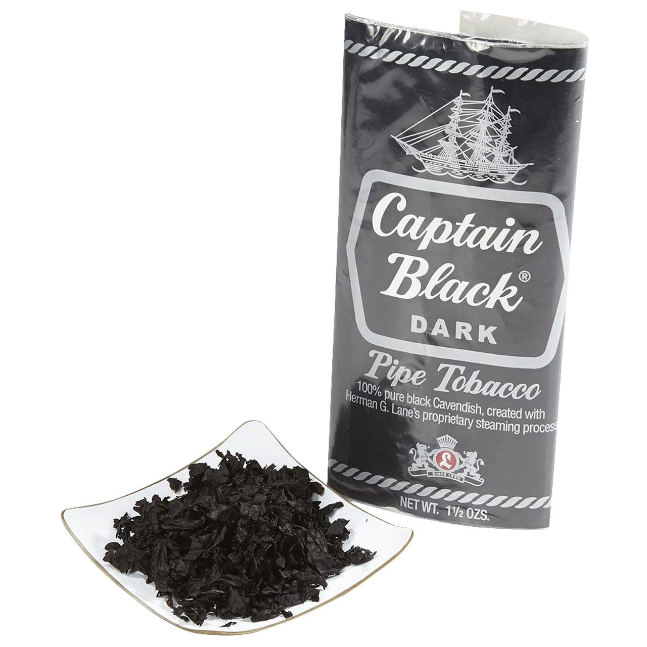 Captain Black Dark Pipe Tobacco | 1.5 OZ POUCH - 6 COUNT