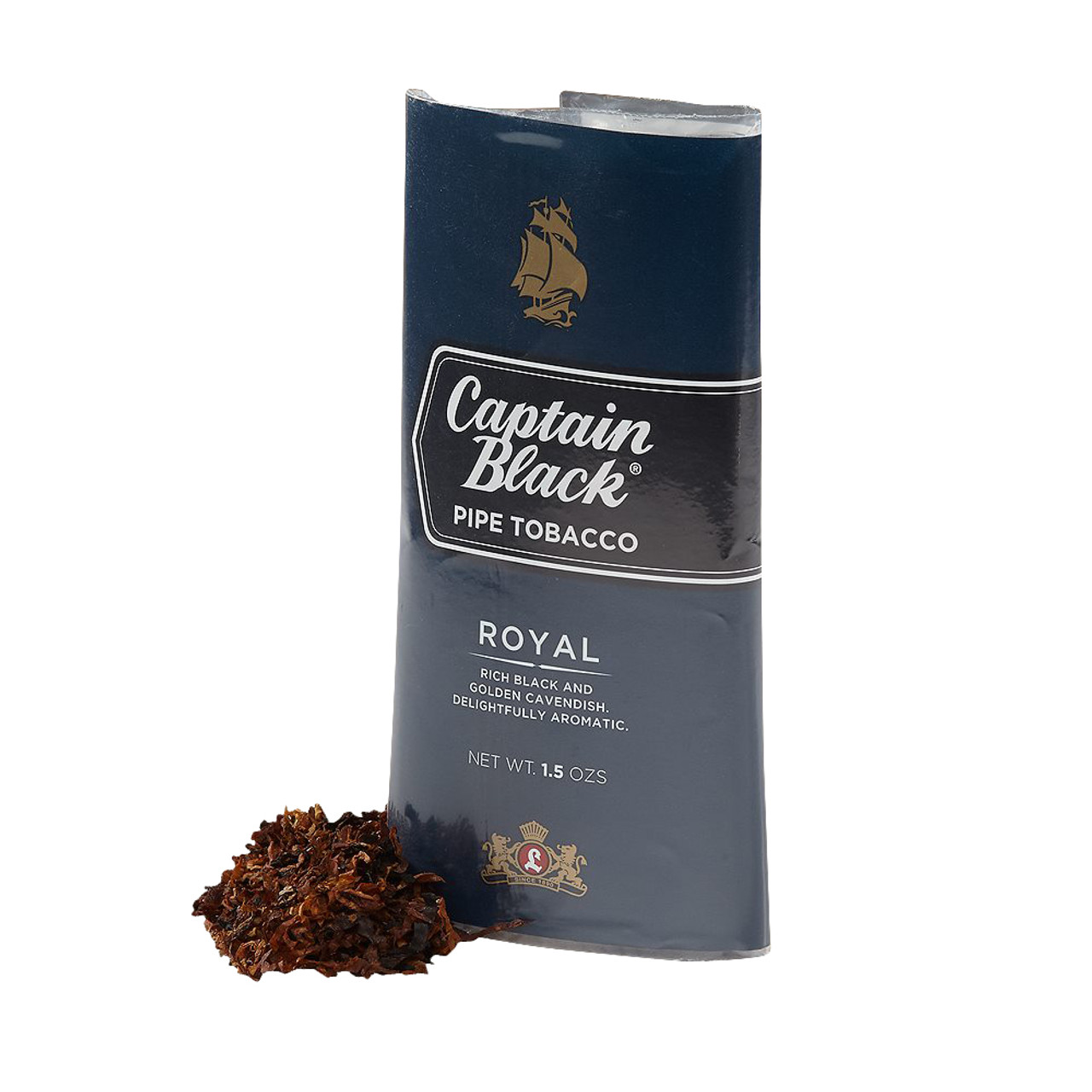 Captain Black Royal Pipe Tobacco | 1.5 OZ POUCH - 6 COUNT