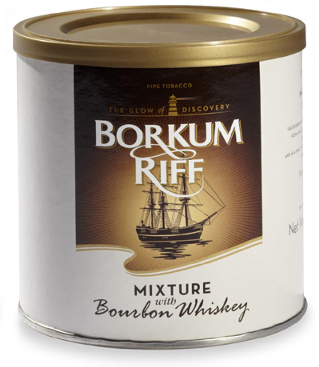 Borkum Riff Bourbon Whiskey Pipe Tobacco   7 OZ TIN