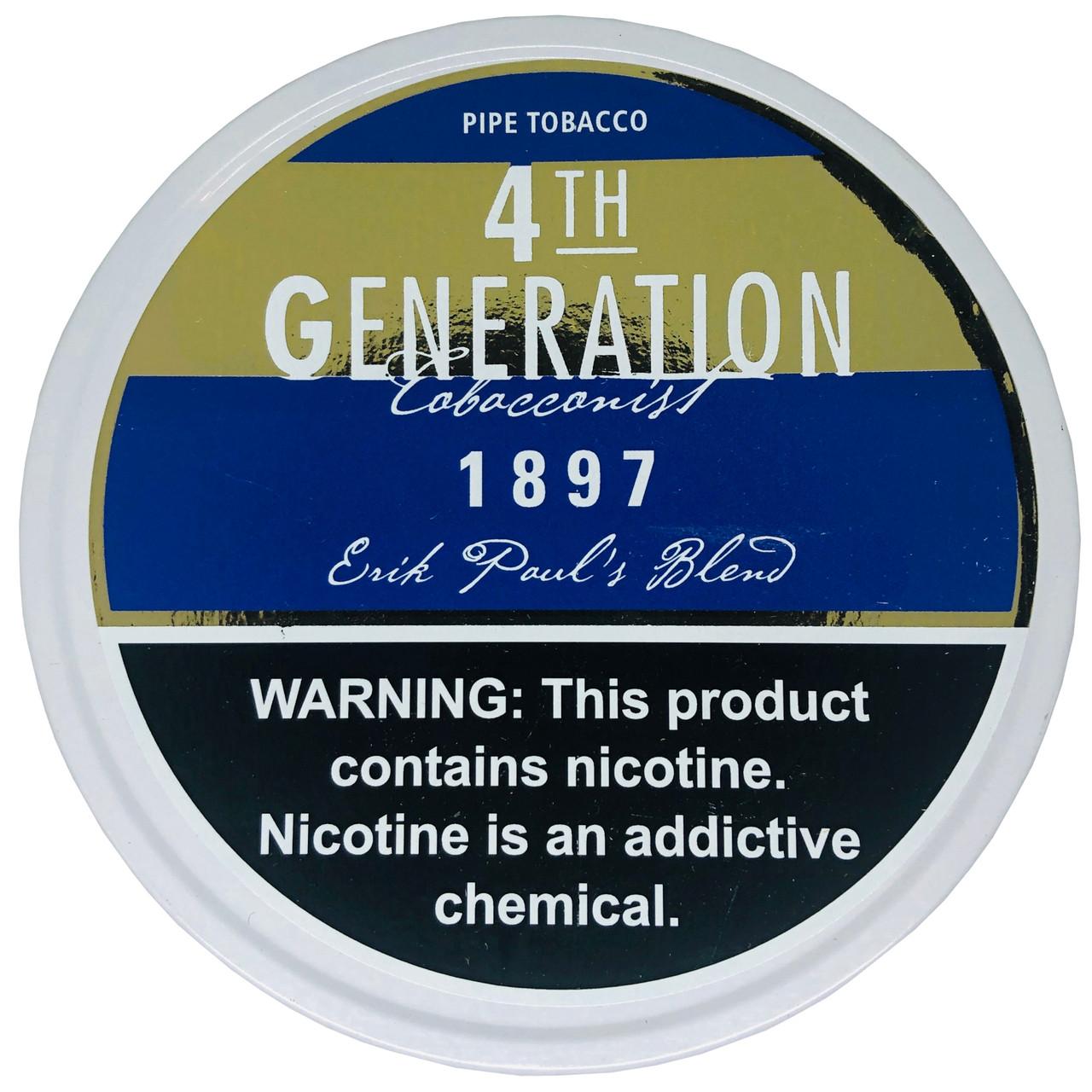 4th Generation Pipe Tobacco 1987 3.5 OZ Tin