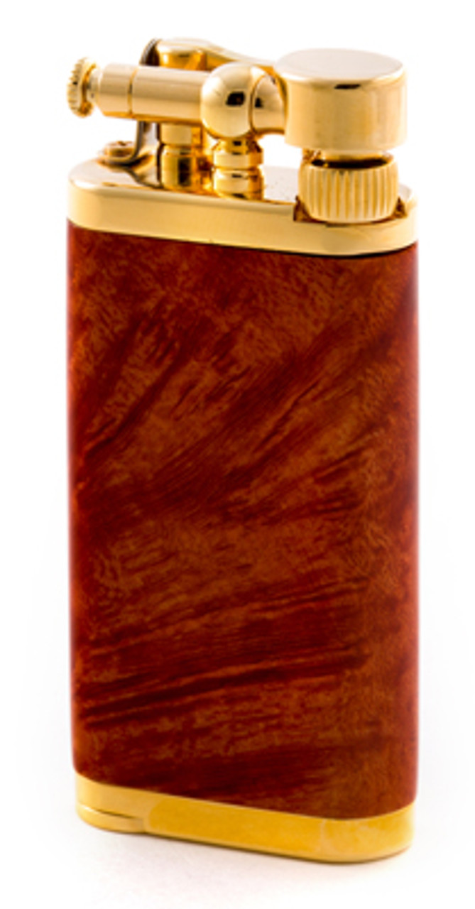 IM Corona Old Boy Smooth Briar with Gold Plate Lighter
