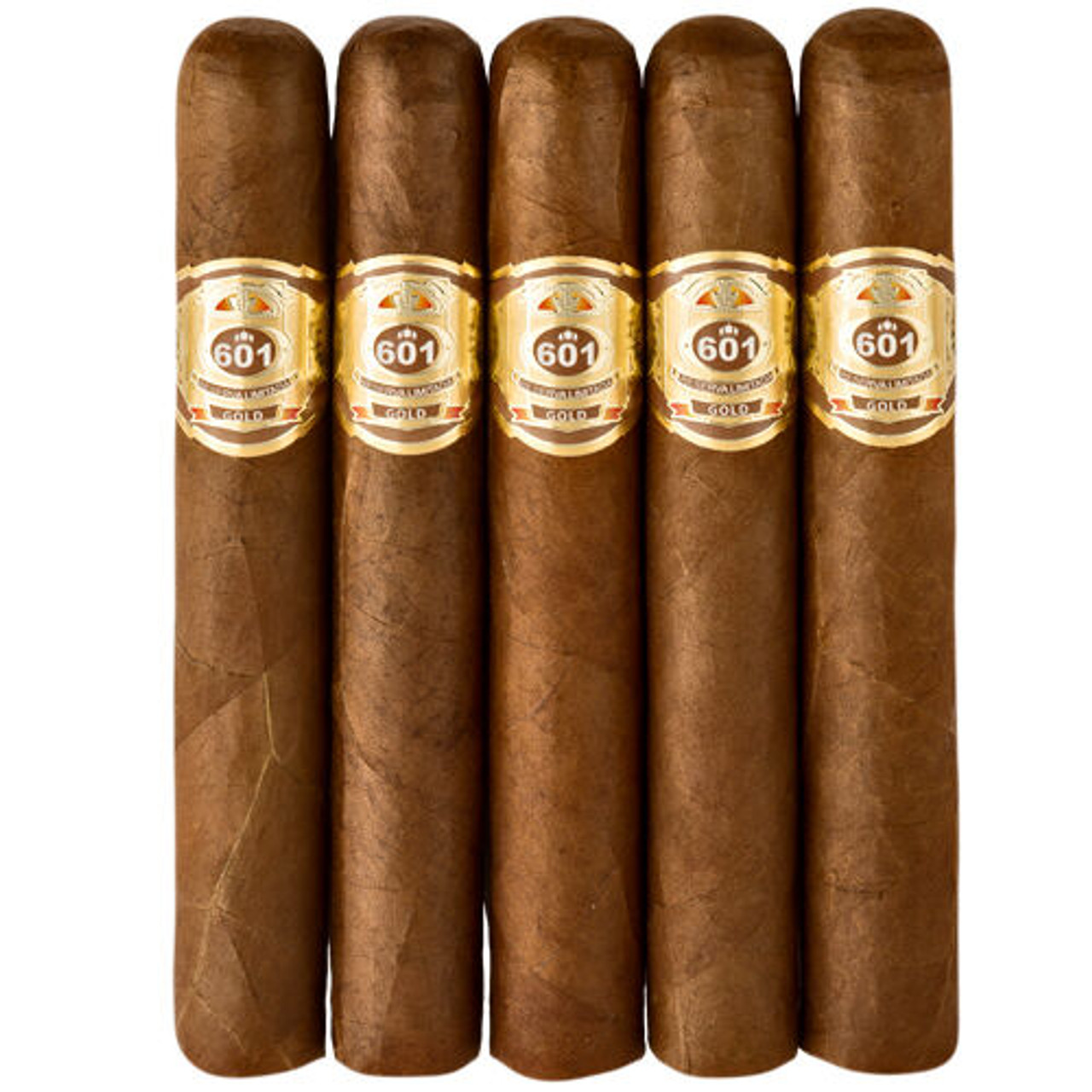 601 Gold Label Gordo Cigars - 6 x 60 (Pack of 5)