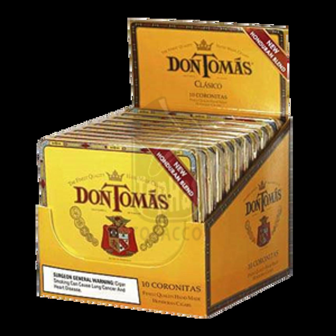 Don Tomas Clasico Coronitas Cigars - 4 x 32 (10 Packs of 10)