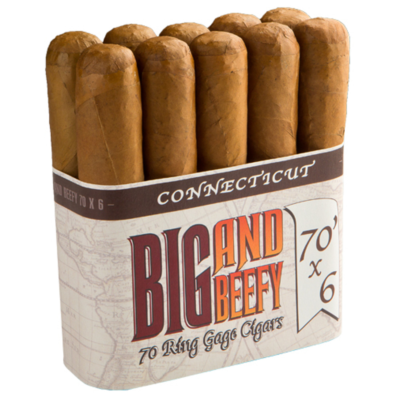 Big and Beefy Connecticut No. 770 Cigars - 7 x 70 (Bundle of 10)