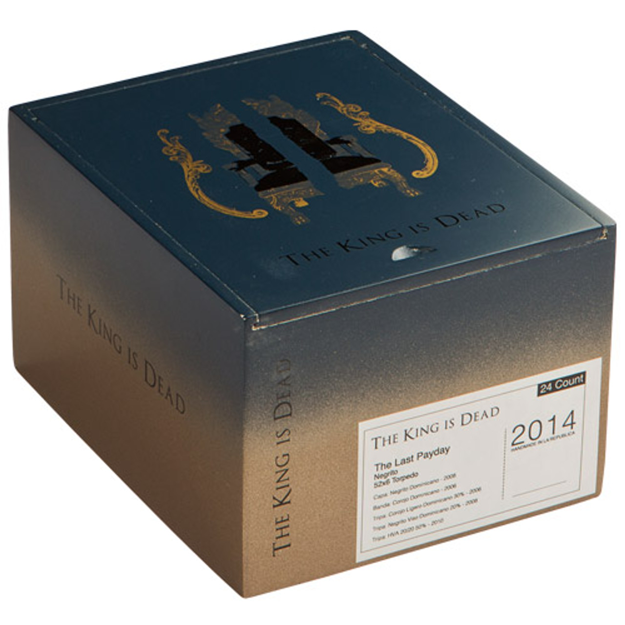 Caldwell Long Live The King Petit Double Wide Short Churchill Cigars - 6 x 52 (Box of 24)