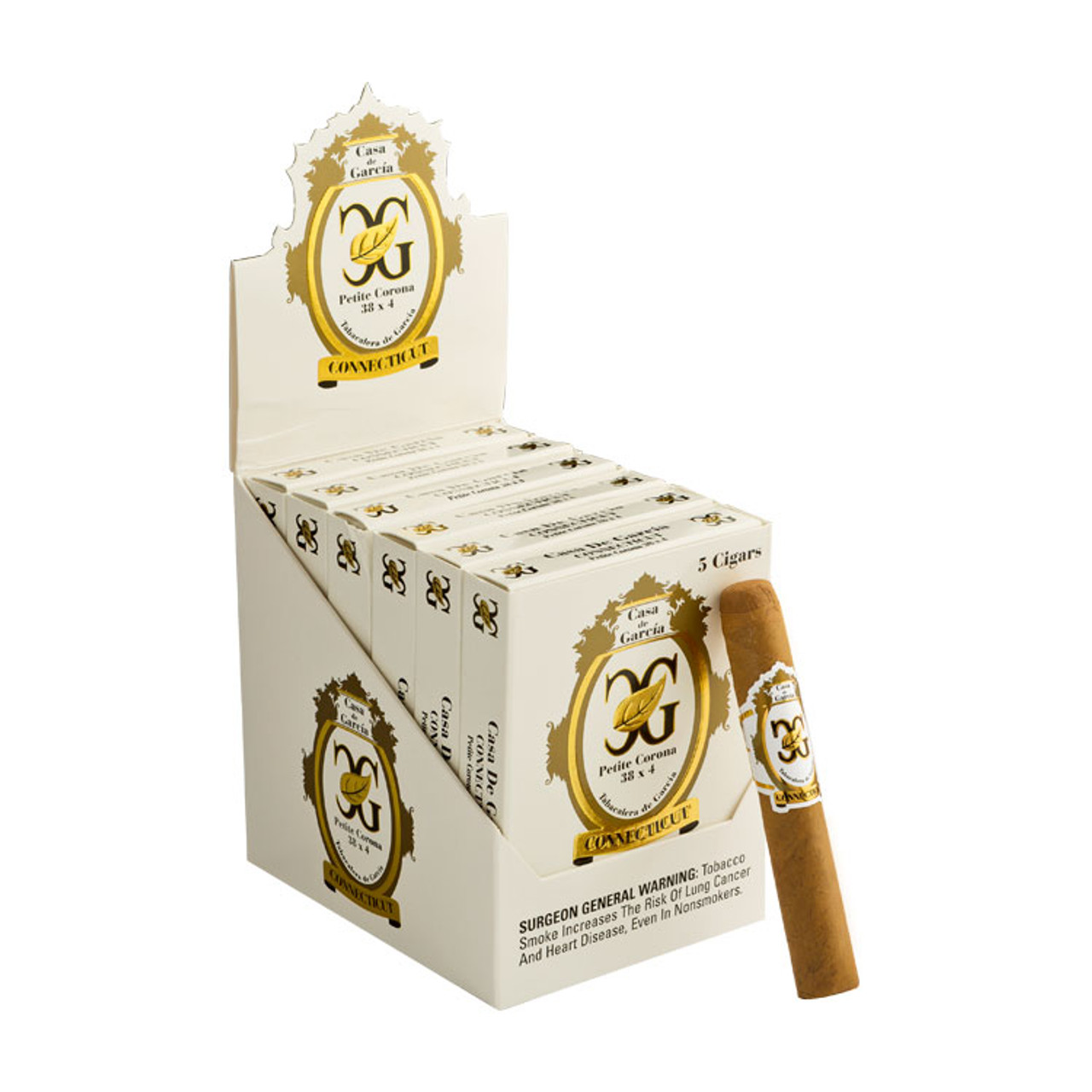 Casa de Garcia Connecticut Petite Corona Cigars - 4.5 x 38 (6 Packs of 5)