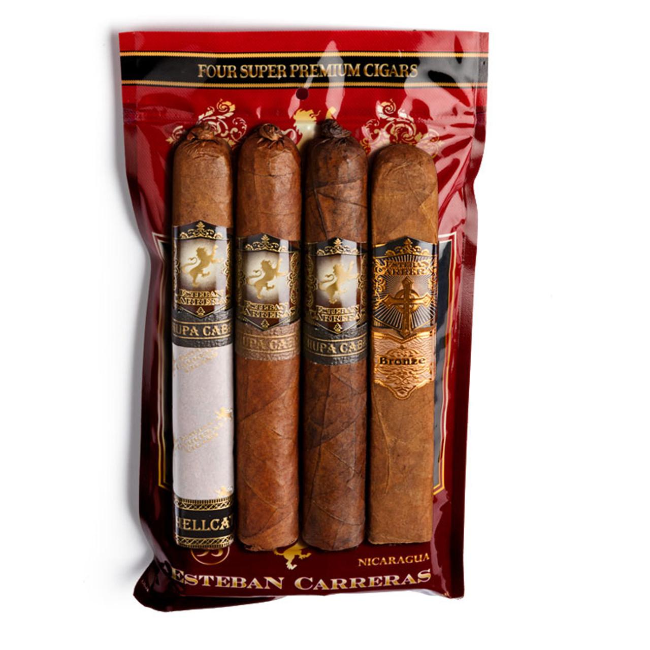 Cigar Samplers Esteban Carreras 4-Cigar Sixty Assortment (Pack of 4)