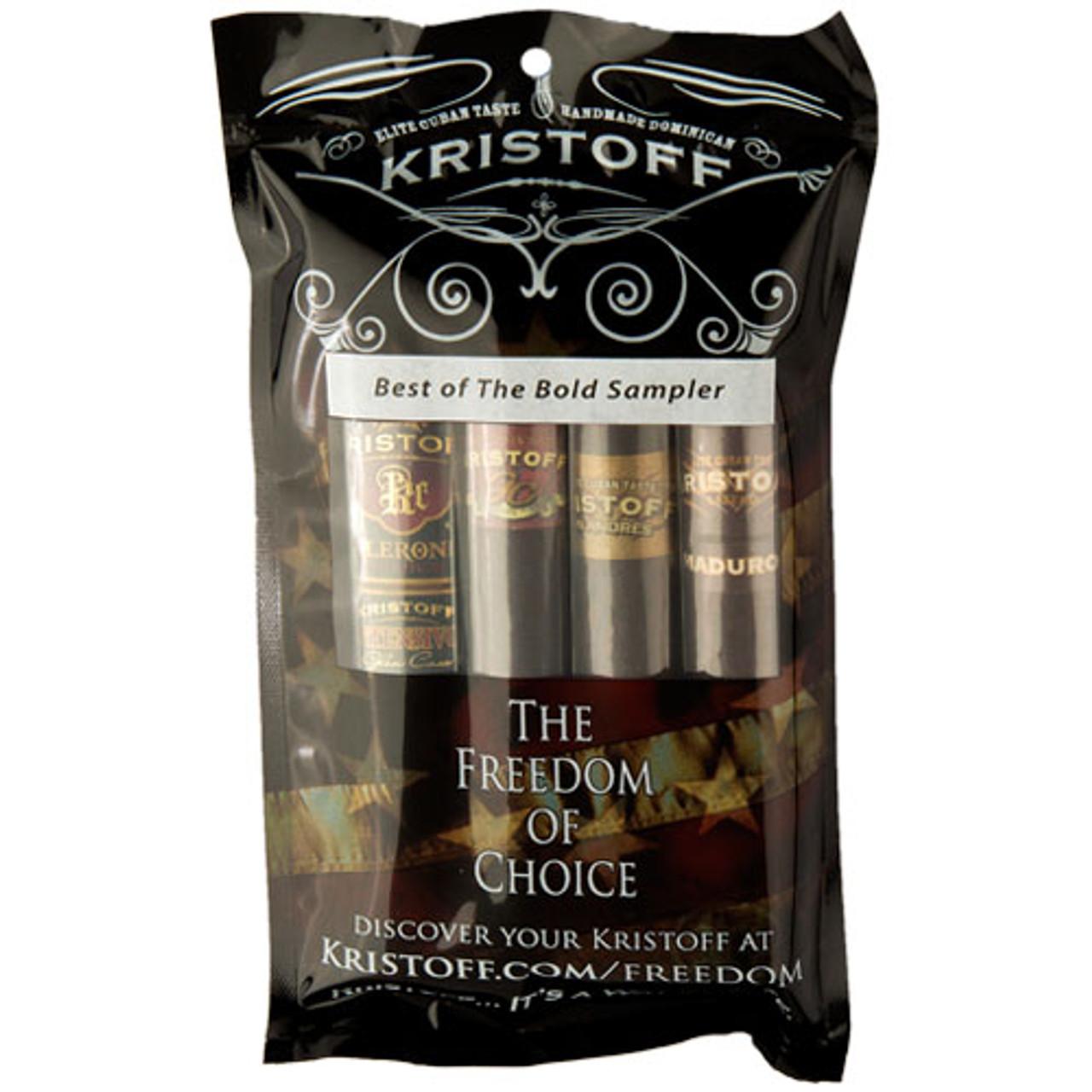 Cigar Samplers Kristoff Best of the Bold Sampler (Pack of 4)