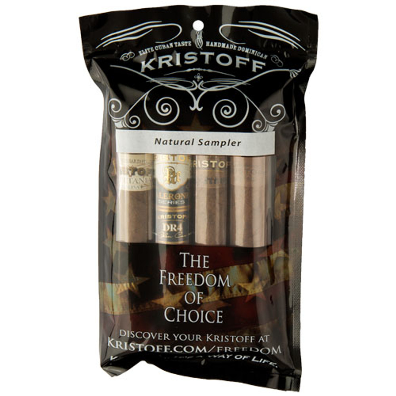 Cigar Samplers Kristoff Natural Sampler (Pack of 4)