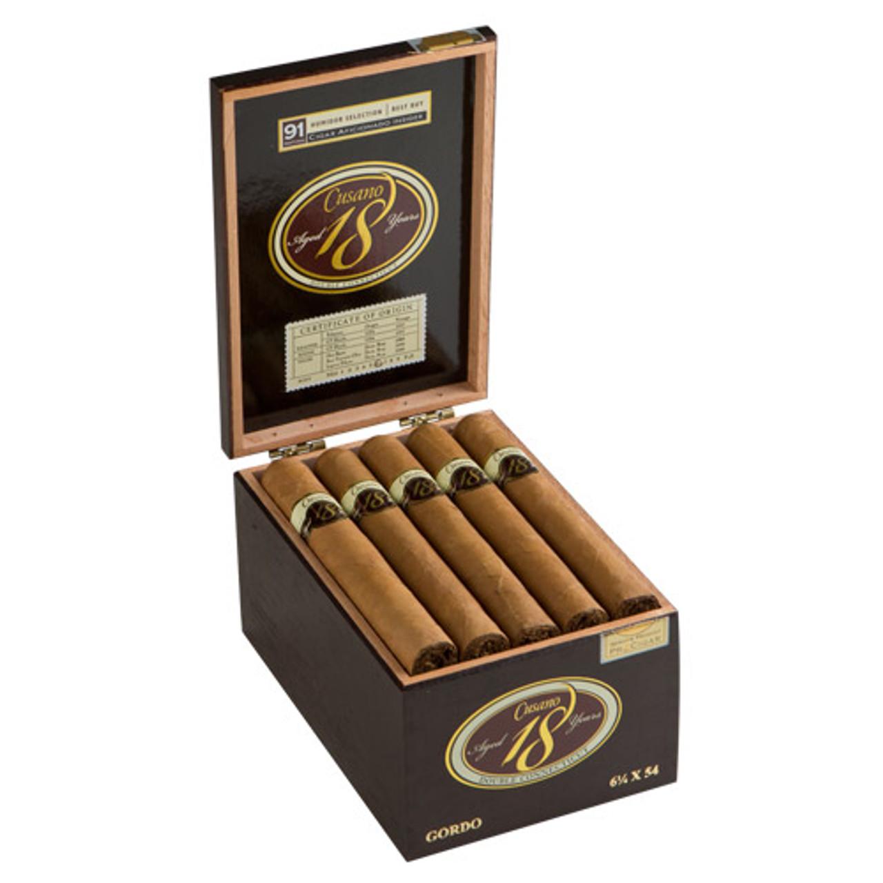 Cusano 18 Double Connecticut Toro Cigars - 6.5 x 46 (Box of 18)