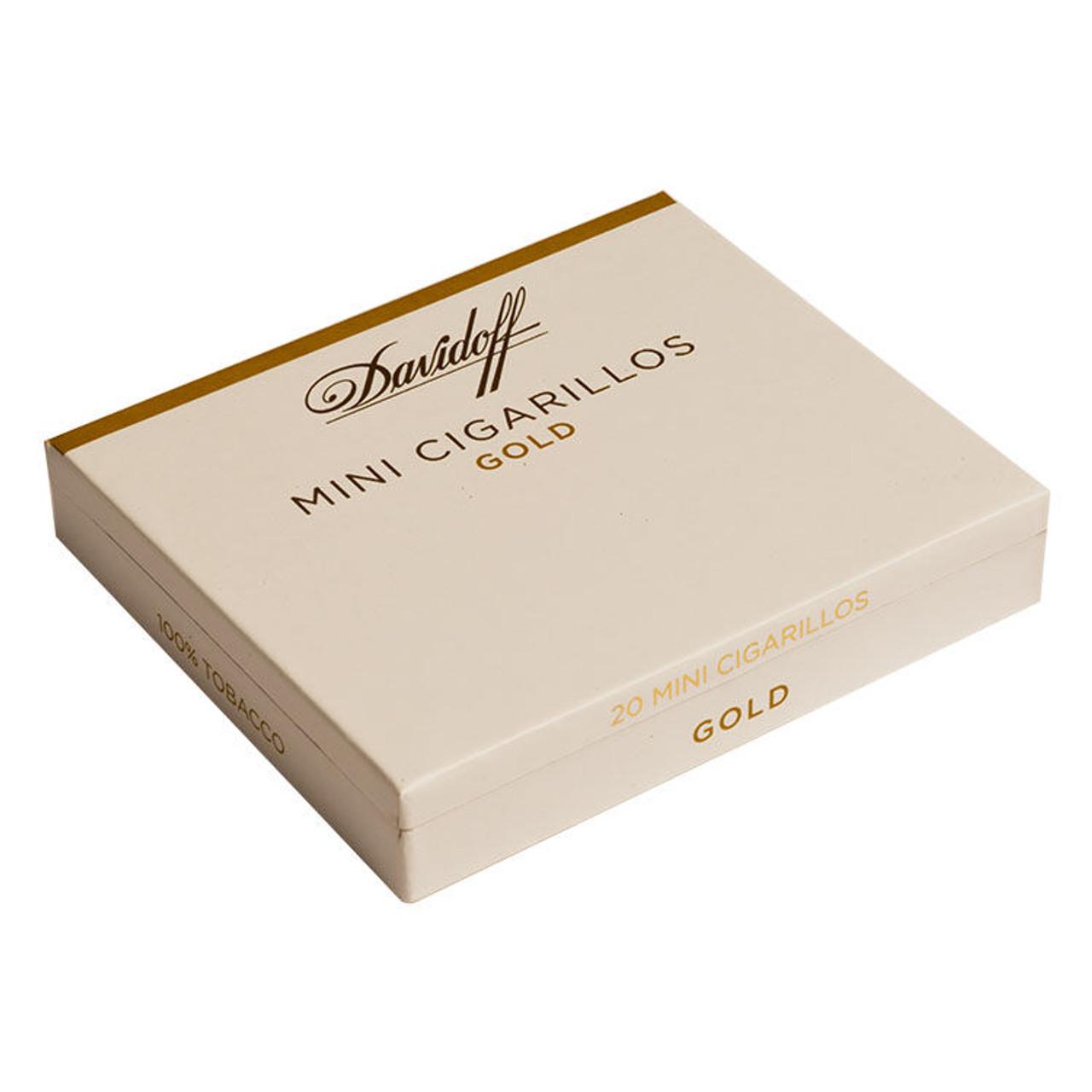Davidoff Cigarillos and Small Cigars - Mini Cigarillos Gold Cigars - 3.43 x 22 (5 packs of 20 (100 total))