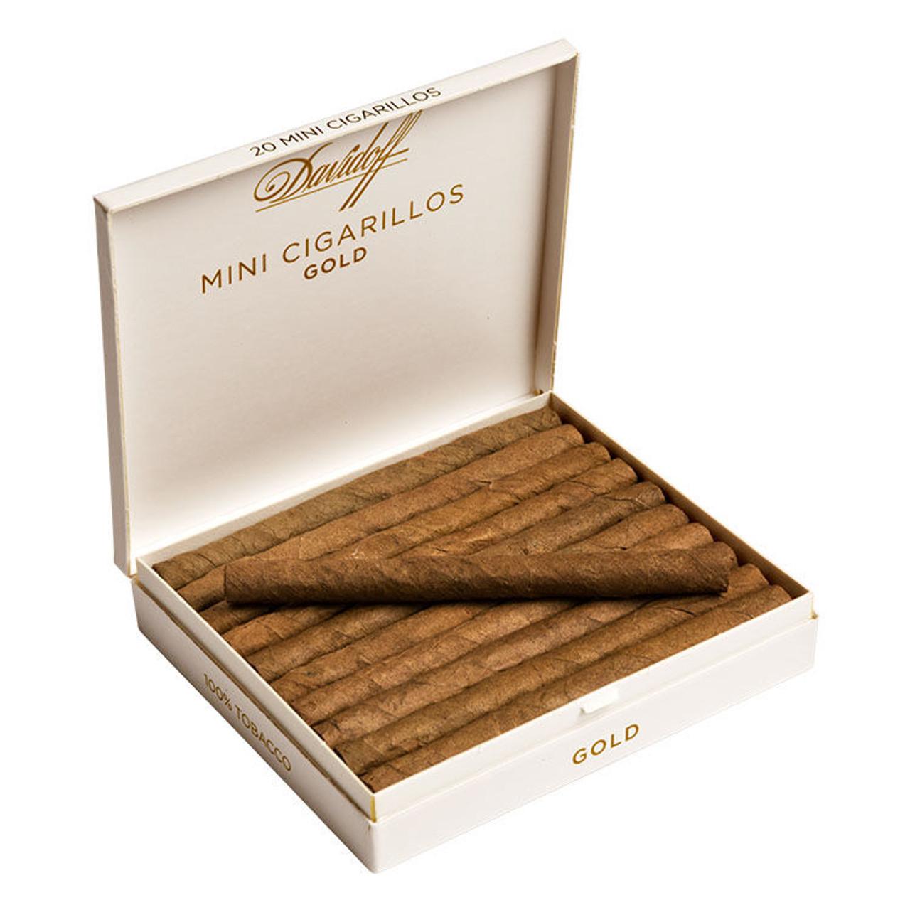 Davidoff Cigarillos and Small Cigars - Mini Cigarillos Gold - 3.43 x 22 (5 packs of 20 (100 total))