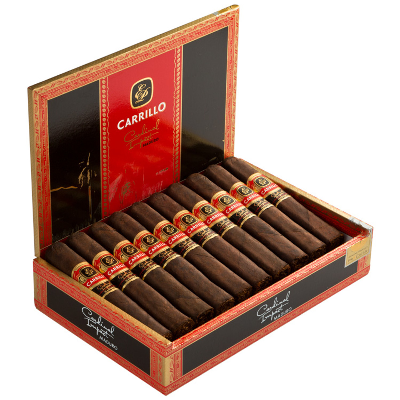 E.P. Carrillo Cardinal Impact No 54 Maduro Cigars - 6 x 54 (Box of 20)