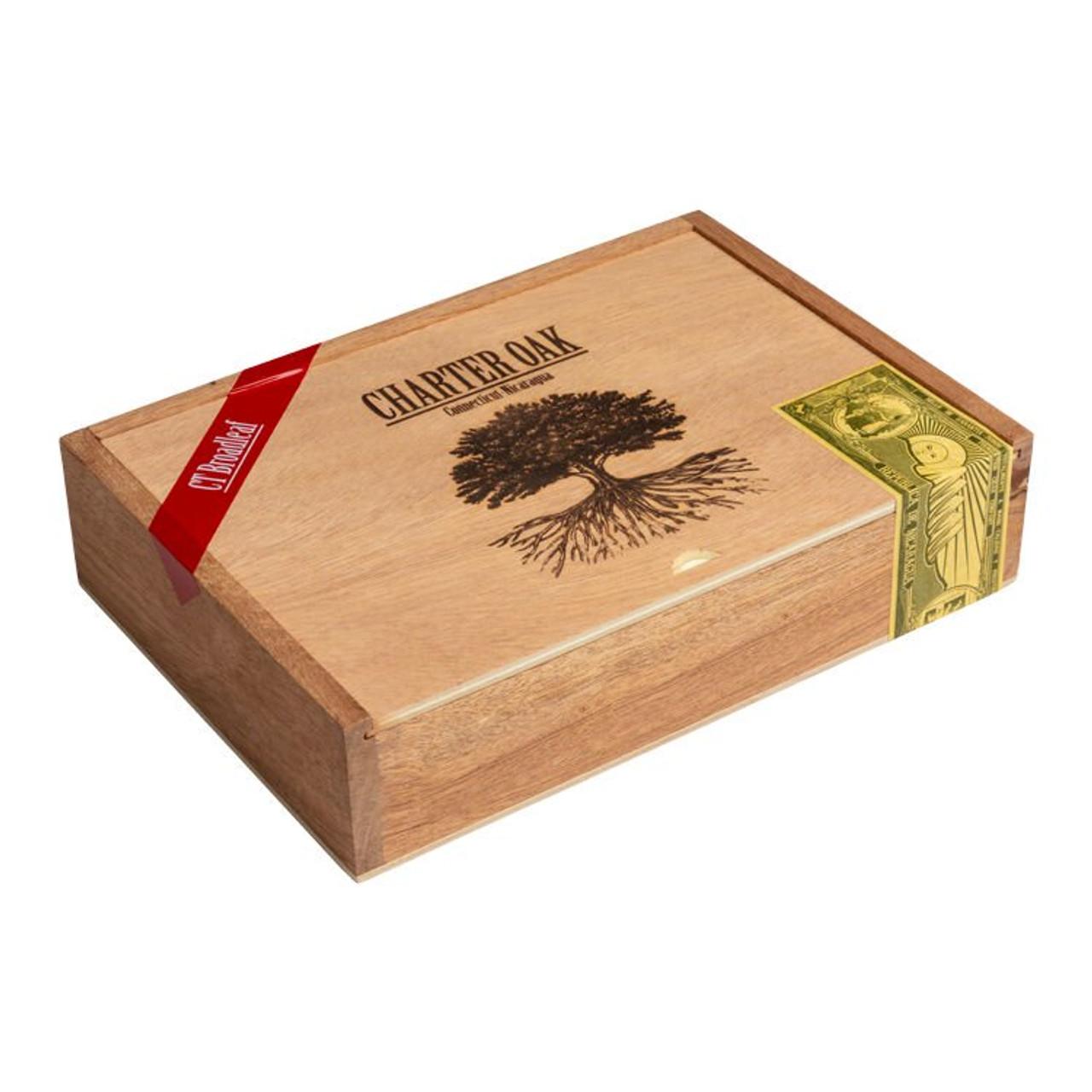 Foundation Charter Oak Lonsdale Maduro Cigars - 6.25 x 46 (Box of 20)