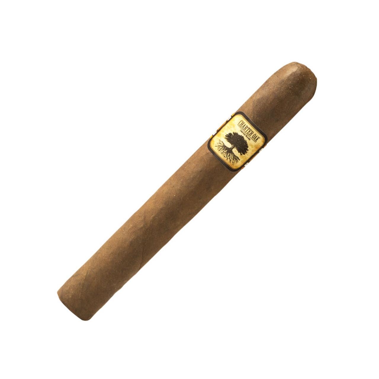 Foundation Charter Oak Petit Corona Maduro Cigars - 5.25 x 42 (Box of 20)