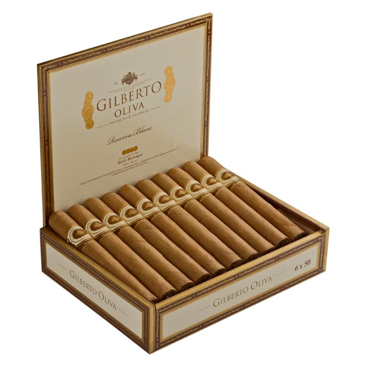 Gilberto Oliva Reserva Blanc Corona Cigars - 5.75 x 43 (Box of 20)