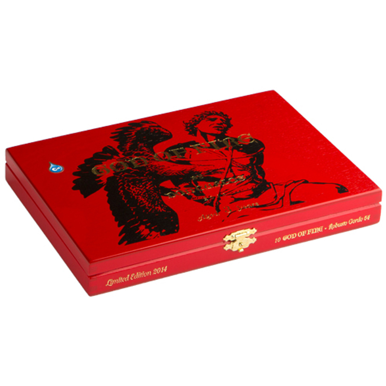 God of Fire by Don Carlos Robusto Tubo Cigars - 5.25 x 50 (Box of 8)