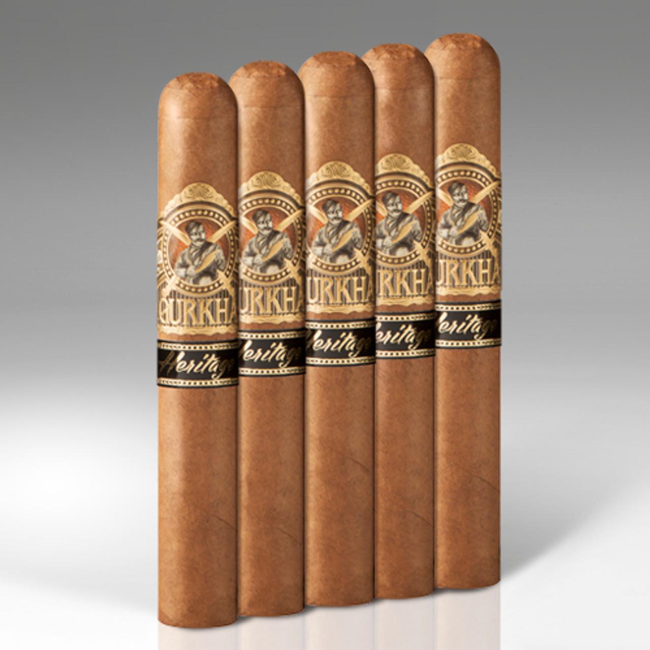 Gurkha 5-Packs Heritage XO Cigars - 6 x 60 (Pack of 5)