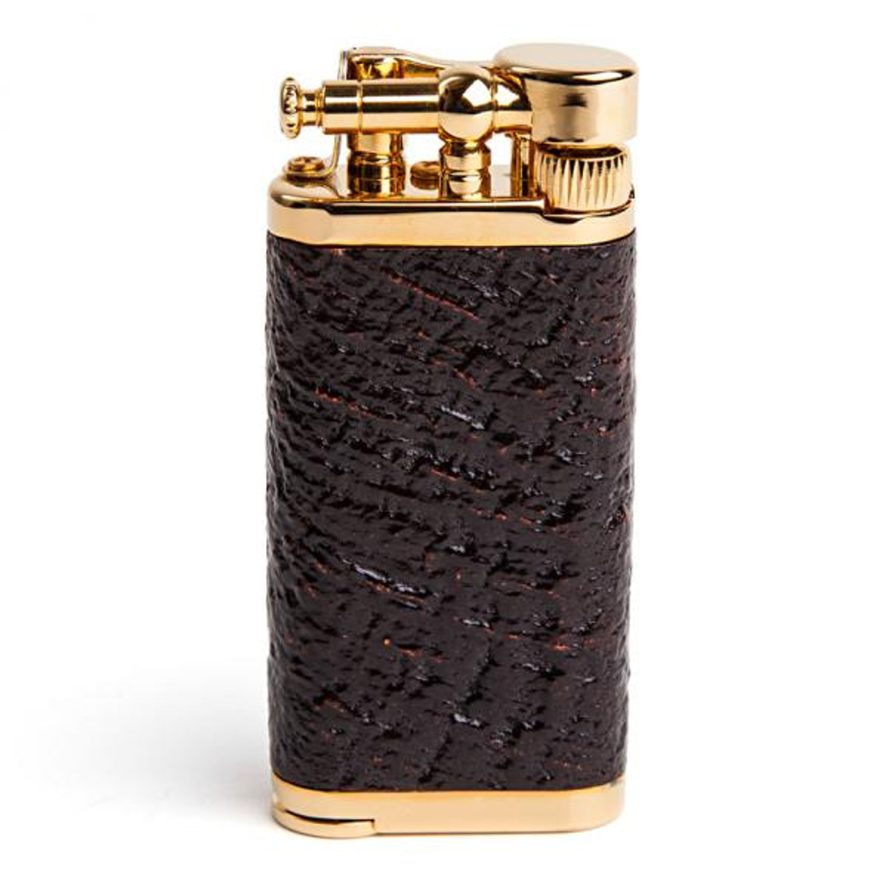 IM Corona Old Boy Sand Blast Briar with Gold Plate Lighter