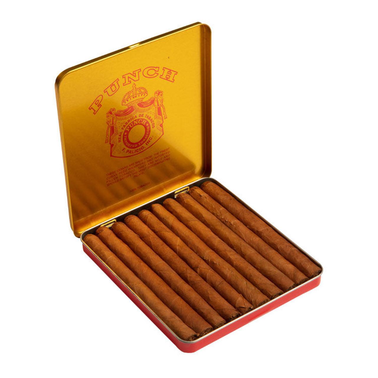 Punch Slim Panatellas (1 Tin of 10) Cigars - 4 x 28