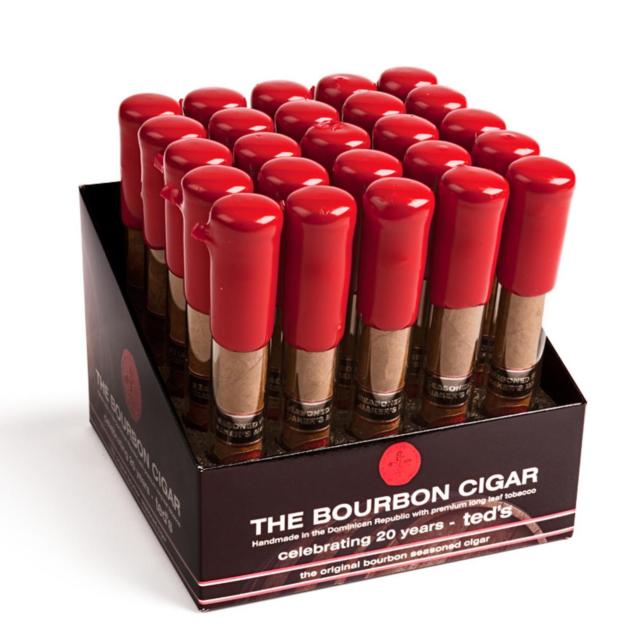 The Bourbon Cigars - Bourbon 650 Cigars - 6 x 50 (Box of 25 Glass Tubes)