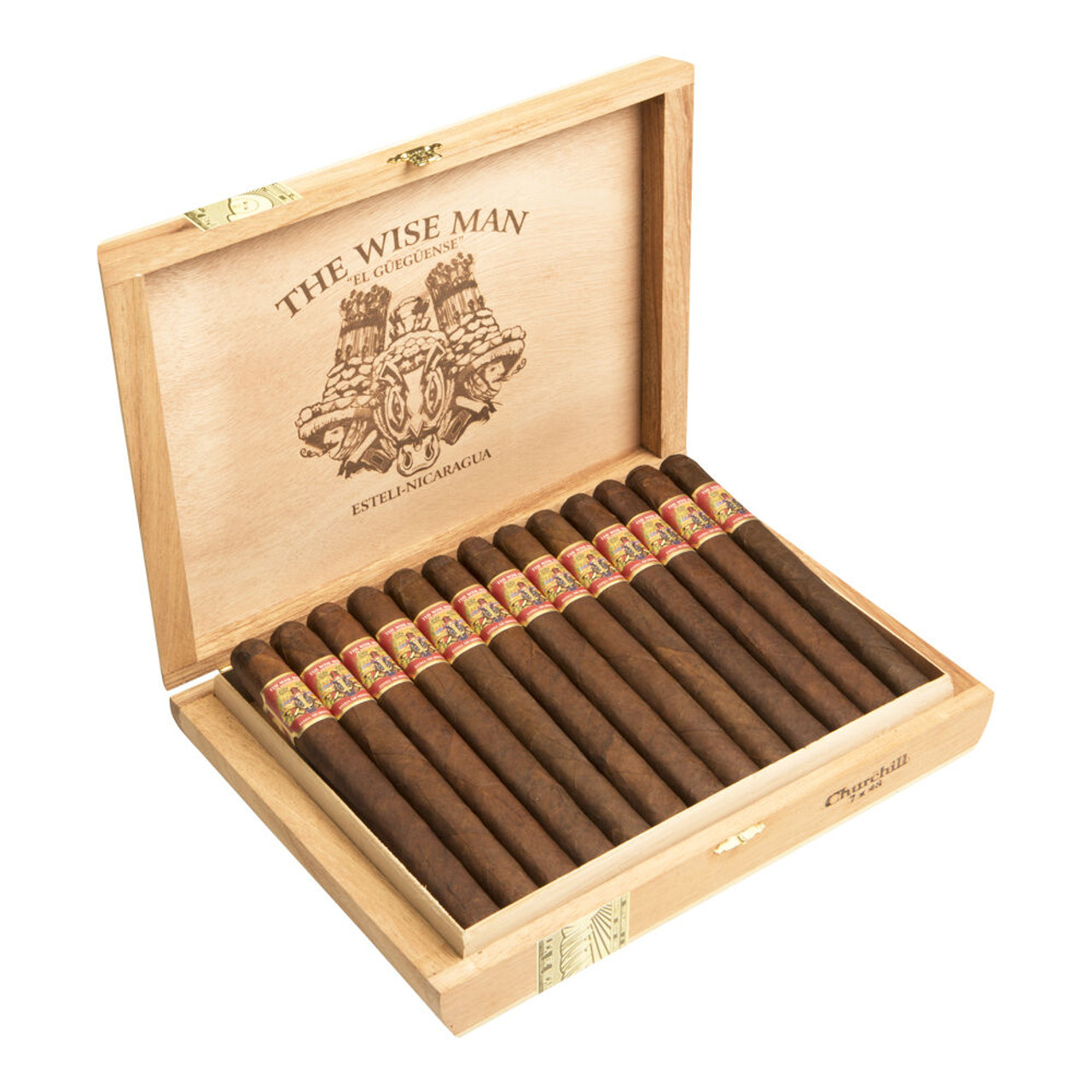 Foundation The Wise Man Maduro Robusto Cigars - 5.5 x 50 (Box of 25)