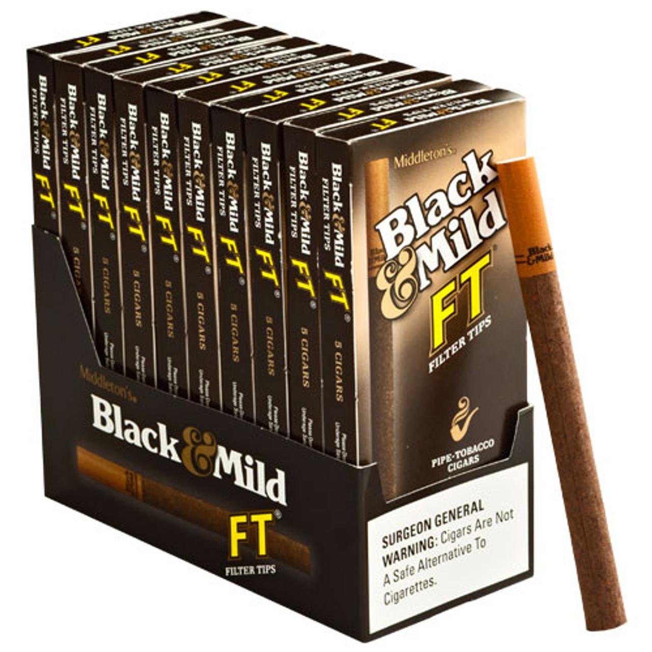 Black and Mild Filter Tip Cigars (10 packs of 5) - Natural