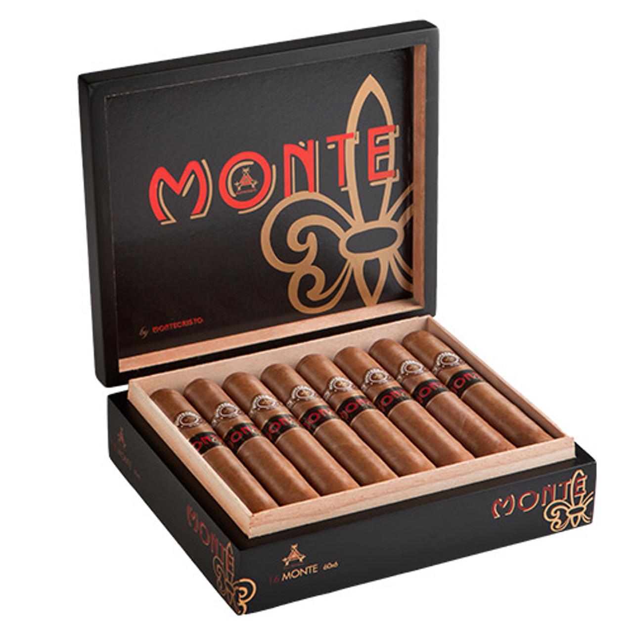 Monte by Montecristo Jacopo No. 2 Square Pressed Cigars - 6.12 x 54 (Box of 16)